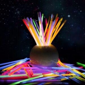 100 Glow Sticks Light Party Led Up Foam Dj Wands Necklaces Flashing Bracelet