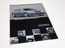 2003 Steinmetz Opel Vectra Caravan Information Sheet Brochure