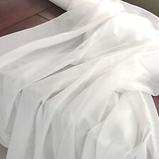 2.5 Meters Soft Cotton Voile fabric 44'' wide Curtain, dress Lining Fabric white