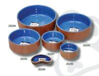 Pet One P1-20290 Bowl Terracotta/Blue Glazed 8.7cm Dia 185 mL for Dogs and Cats