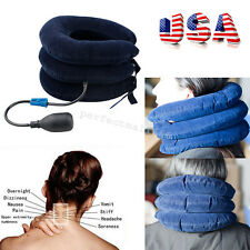 US Inflatable Cervical Neck Back Traction Neck Head Stretcher Pain Relief Collar