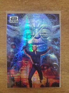 2021 Topps Chrome Star Wars Galaxy The Four Jedi Prism Refractor #2/75- New Hope