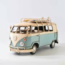 1964 VW Decorative Deluxe Bus in Blue and white - Tinplate Model W/Surfboard