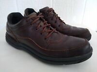 Rockport World Tour K52343 Men's Brown Leather Classic Casual Lace Up Shoe Sz 13