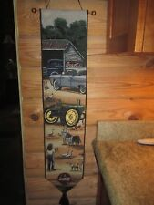 Collectible Tapestry Wall Hanging Coca Cola/John Deer Signed 41 x 9 Inch WOW