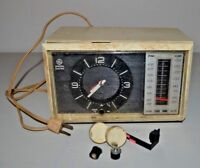 Vintage GE General Electric Solid State Tabletop AM/FM Alarm Clock Radio C4500A