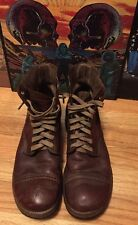 Vintage WWII Era US Army Military Official Uniform Brown Leather Boots. Rare.