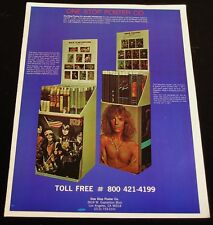 Kiss - One Stop Poster Co. - ORIGINAL 1977 Magazine COLOR Ad/Poster!