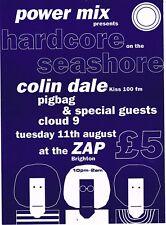 HARDCORE ON THE SEASHORE Rave Flyer Flyers A5 11/8/92 The Zap Brighton