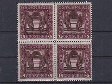 1926 Nibelungensage ANK 490 die 15+5g Lilarot 4er Block Postfrisch ** MNH