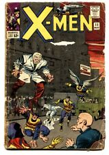 X-MEN #11 1965-MARVEL COMICS-1st APPEARANCE: STRANGER  G