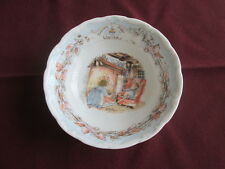 """ROYAL DOULTON BRAMBLY HEDGE WINTER BOWL 5.5"""" WIDE"""