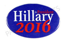 2016 HILLARY for PRESIDENT PIN BACK OVAL CAMPAIGN BUTTON, clinton blue