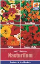 SEED Collection Pack - NASTURTIUM Mixed, TOM THUMB, JEWEL OF AFRICA, TRAILING