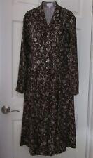 Esprit Womens Shirtdress Brown Floral Print Size 38