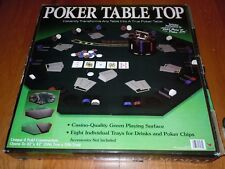 "Cardinal Poker Table Top 42"" Casino-Quality Green Playing Surface 4 Fold /in Box"