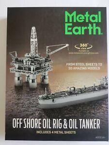 Metal Earth Off Shore Oil Rig & Oil Tanker model kit set