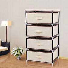 SONGMICS (RLG14M) 4 Drawer Storage Wardrobe Cabinet - Beige