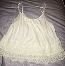 GARAGE WOMEN'S FLOWER LACE TANK TOP WHITE SIZE X-SMALL