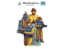 Trumpeter 1/35 WWII US Navy LCM Crew Figure Set (3) TRP408
