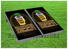 VINYL WRAPS Cornhole Boards DECALS BagToss Game Stickers 879