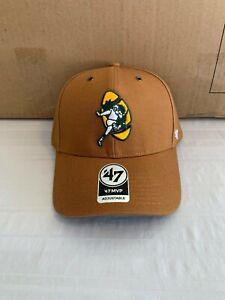 Green Bay Packers Legacy NFL '47 Brand Carhartt Mens Brown MVP Adjustable Hat