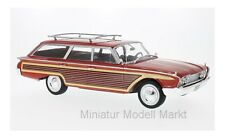 #18074 - McG Ford Country Squire-rojo/madera-con dachreling - 1960 - 1:18
