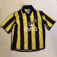 Rare R. Carlos Size Medium M Soccer Jersey Top Shirt Yellow Blue SS Fenerbahce