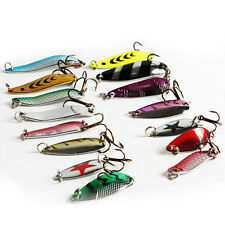 30pc/lot Trout Spoon Metal Fishing Lures Spinner Baits Bass Tackle Mixed Color