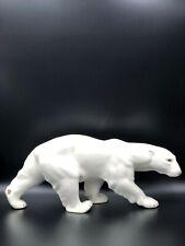 Large Copenhagen Bing & Grondahl B&G Porcelain Figurine Walking Polar Bear