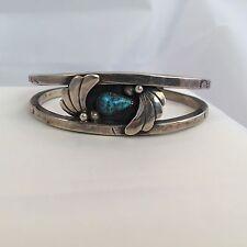 Cuff Bracelet Jackie Manygoats Navajo Artist Silversmith Sterling Turquoise .925