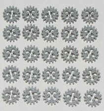 LEGO LOT OF 25 TECHNIC GREY GEARS 16 TOOTH PARTS