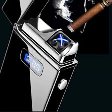 Electric Plasma Cigarette Lighter Usb Rechargeable Led Power Display Windproof
