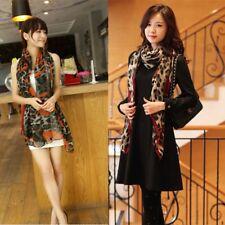 170 * 80cm Red Leopard Stylish Long Soft Silk Chiffon Scarf Wrap Shawl Scarves