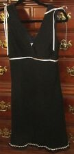 Wishes Wishes Wishes Dress Sz 5 Black polyester crepe Ribboned lace EUC