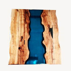 Resort Decorative Custom Order Epoxy Table Furniture Wooden Walnut Transparent