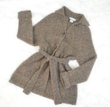 VINTAGE SAKS FIFTH AVENUE, Brown Wool/Mohair Blend Cardigan Sweater Jacket
