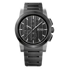 HUGO BOSS Uhr 1513089 Neo Chrono Herren Chronograph Silikon Schwarz Armbanduhr