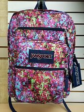 JanSport BIG STUDENT Backpack Multi Flower Explosion **NEW with Tag**