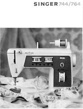 Singer 744-764 Sewing Machine/Embroidery/Serger Owners Manual Reprint