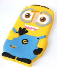 for LG G3 - Soft Rubber Silicone Skin Case Cover Yellow Despicable Me Minion