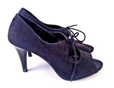 ae652838414b Fioni Black Peep Toe Lace-Up Slim-Heel Pumps for Women
