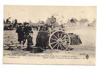 la guerre 1914 artillerie belge recevant un message par le téléphone de campagne