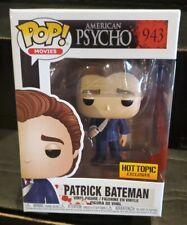 Hot Topic Exclusive American Psycho Patrick Bateman w/ Knife Funko Pop Figure