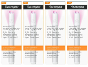 Neutrogena Visibly Clear Light Therapy Acne Spot Treatment (Pack of 4)