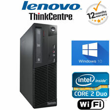 Windows 10 Lenovo ThinkCentre ordenador 4gb RAM 250GB Escritorio Sff Torre PC +