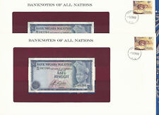 Banknotes of All Nations Malaysia 1981 1 Ringgit P13b UNC 2 Consecutive Notes