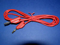 Test Lead Banana Plug Stackable 4mm 1.5M Long ......Red