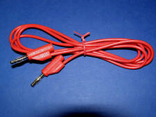 2  x  Test Lead Banana Plug Stackable 4mm 1.5M Long ......Red