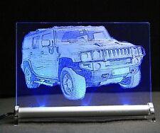 Foto incisione HUMMER h2 come auto incisione su LED INSEGNA LUMINOSA LED Sign